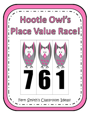 Fern Smith's Free Download for Second and Third Grade,  Hootie Owl's Hundreds Place Value Race!