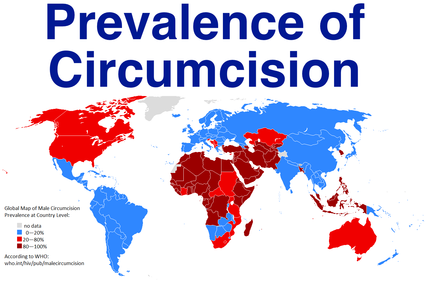 male circumcision is prevalent in the u s israel and muslim countries