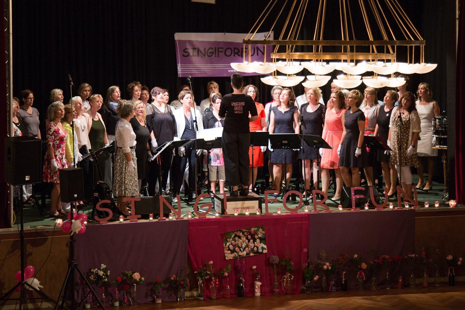 Großer Auftritt beim Chorjubiläum