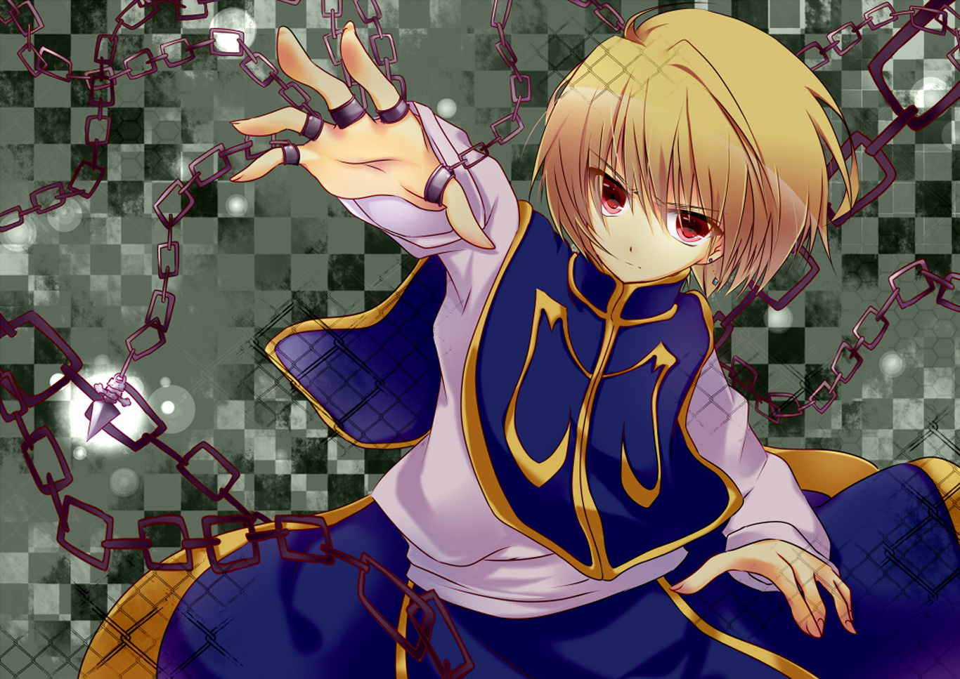 Kurapika Chains Scarlet Eye Male Blonde Hair Male Guy Hunter X Hunger    Kurapika Wallpaper Backgrounds