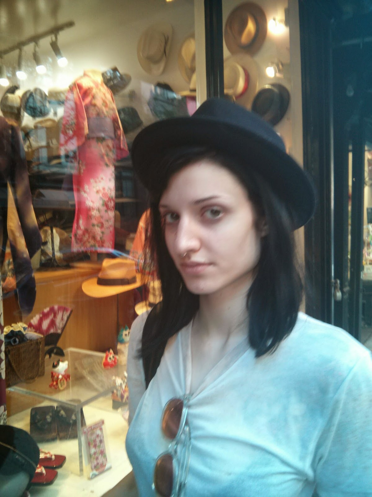 Stetson Hat on Young Lady