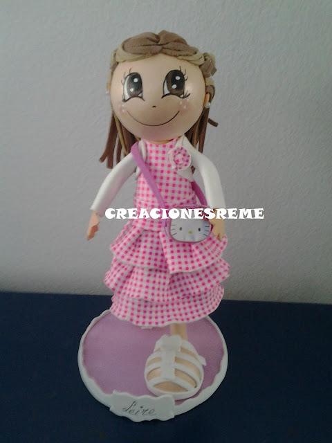 fofucha-creacionesreme-personalizadas-foami –perrito-muñecas artesanas-fofuchas