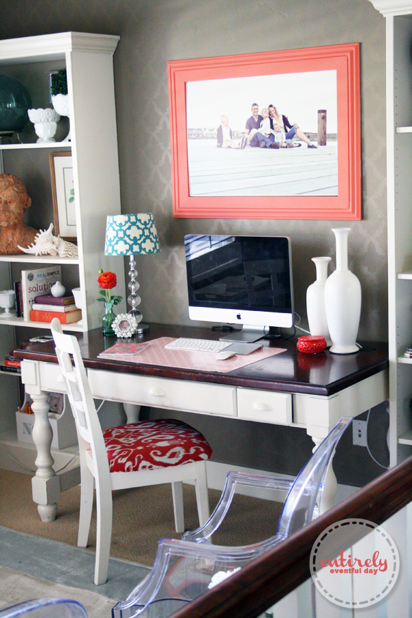You Just Have To Add A Little Fabric Medium To Your Paint. I Found The Cute  Pillows And Gray Table At TJ Maxx And The Coral Vessel At IKEA.