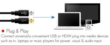 gadget high tech Atmosphere enceintes ordinateur eclairage LED