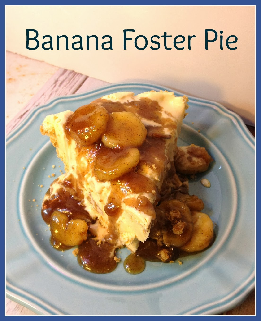 Banana Foster Pie for the Cook Book Club