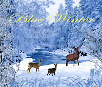 Blue Winter digital fantasy backgrounds