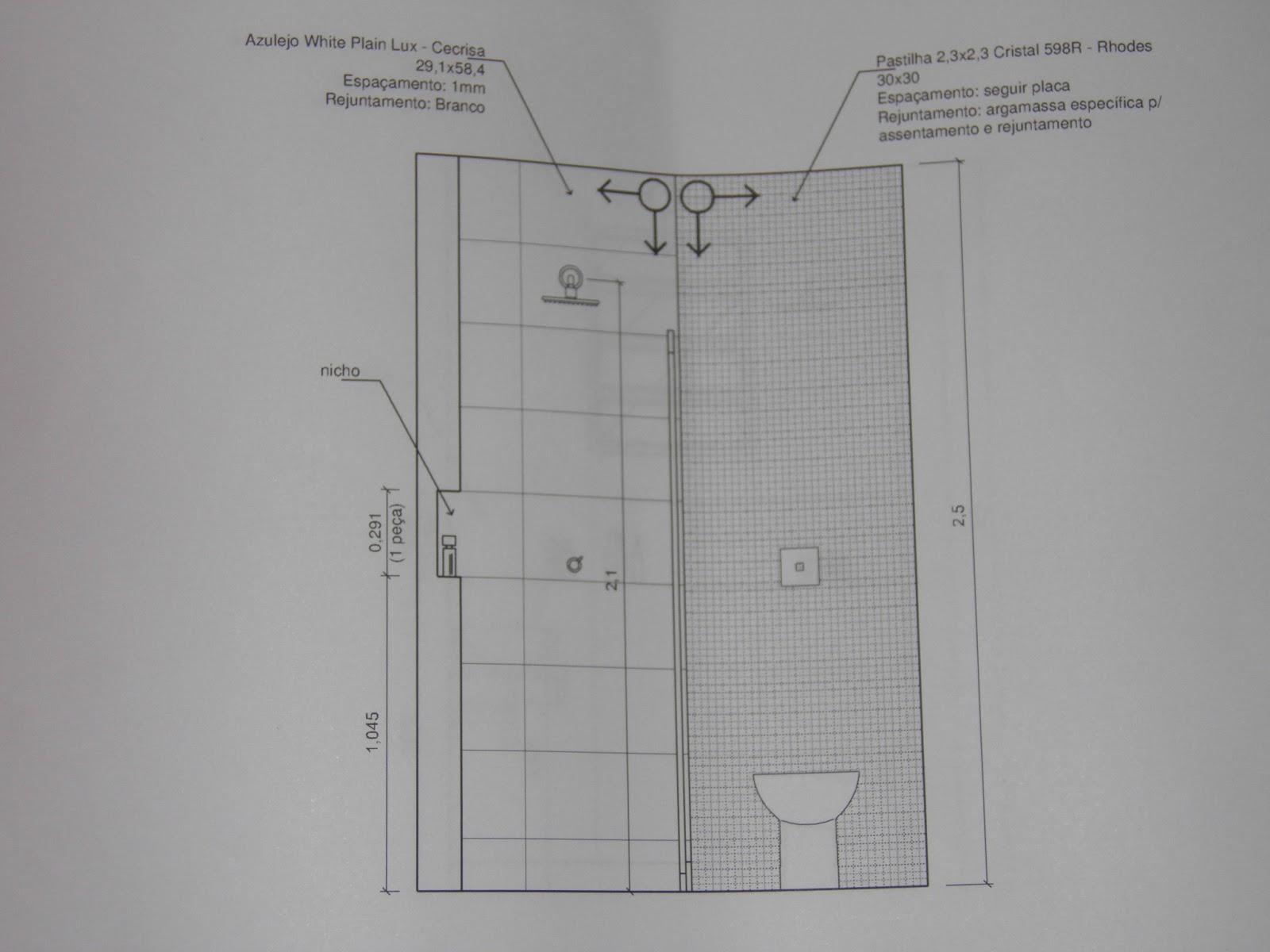 um sonho com cimento de amor!: Projeto de paginação para o banheiro #504F59 1600 1200