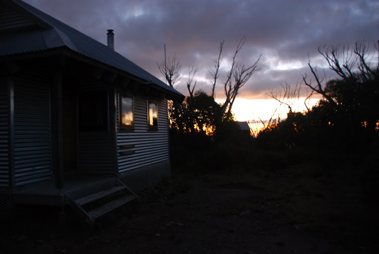 Sunset on Michell Hut