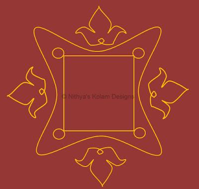 4 Navagraha Kolam | Chandra Bhagavan | Monday