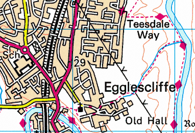 Map of the Egglescliffe area