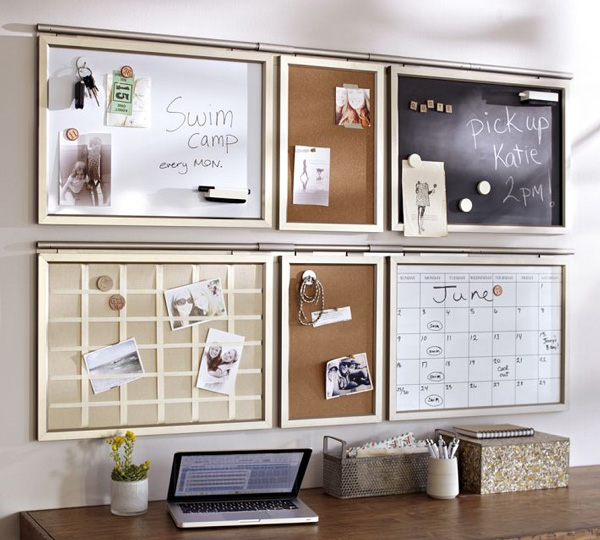 Pottery Barn Is A Good Source For Wall Organization Ideas. I Like The  Concept Of All Of The Different Boards For Scheduling, Notes, Reminders,  Etc.