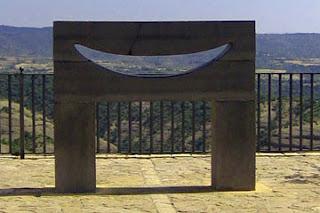 Mirador 'Sonrisa al Viento' en Alquézar (Somontano, Huesca, Aragón, España)
