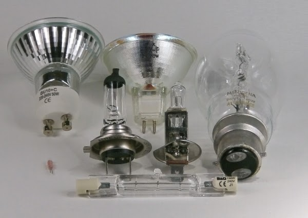 Selection of domestic halogen bulbs