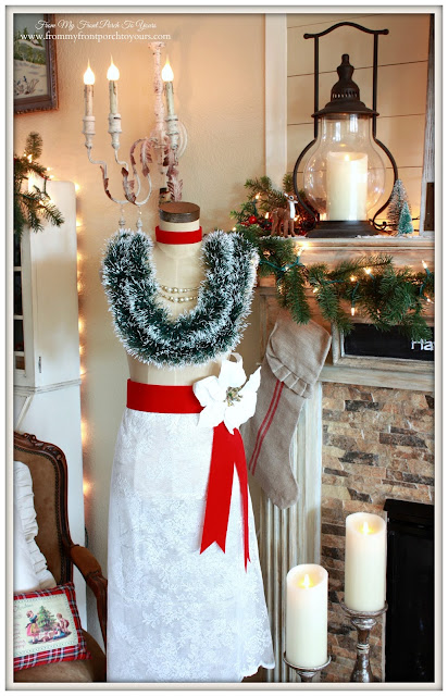 Vintage Inspired- Christmas Dress Form-Designer's Pick Thrusday-Antique Farmhouse Dress Makers Form-From My Front Porch To Yours