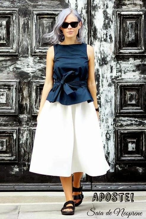 saia godê neoprene-Saia Neoprene-modelo de saia-modelos de saias-saias da moda-saia de neoprene-saias neoprene-saias femininas-saias de neoprene-saia preta-saia rodada-saia-sino-saias curtas-saia curta-roupas-femininas-moda verão 2015-saia btanca-neoprene-looks em neoprene-look com saia-Neoprene Skirt