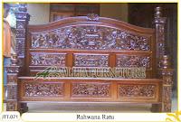 Tempat tidur kayu jati ukir jepara Rahwana Ratu murah.Jakarta