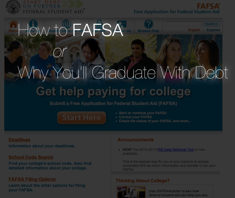 How to FAFSA (or, Why You'll Graduate With Debt) | The Sounds of ...