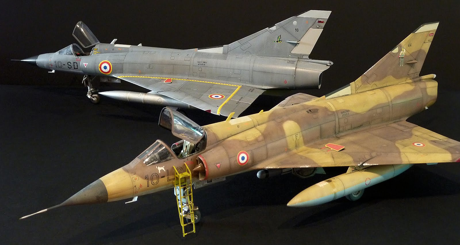 A double build of the 1/32nd scale Mirage IIIC from Italeri