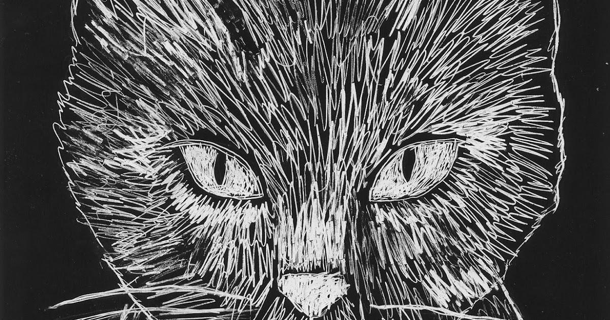 scratch art cat face