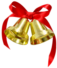 Christmas bells with transparent background
