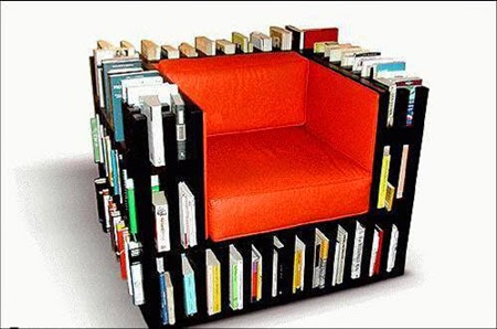 Innovative Chair to keep your study books in once place | Chair to keeP books | Innovative Bookshelf Chair Idea | Keeping reading books and easy to change the reading books using this creative Bookshelf chair