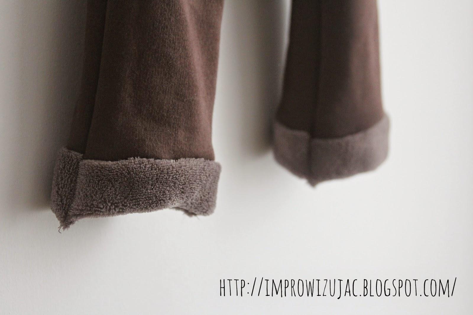 spodnie z kolorową pupą