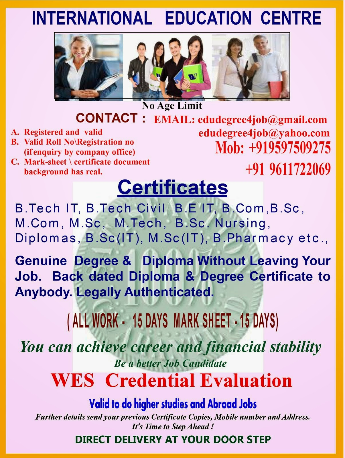 Genuine Degree Diploma Without Leaving Your Job Ugcaicte Approved