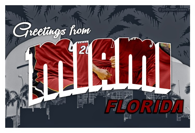30 home games nba postcards greetings from miami florida and san greetings from miami florida southeast division m4hsunfo