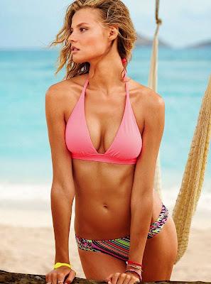 Magdalena Frackowiak hot body in Victoria's Secret sexy bikini photoshoot