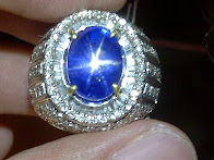8,17ct NATURAL ROYAL BLUE STAR SAPPHIRE GD Ring