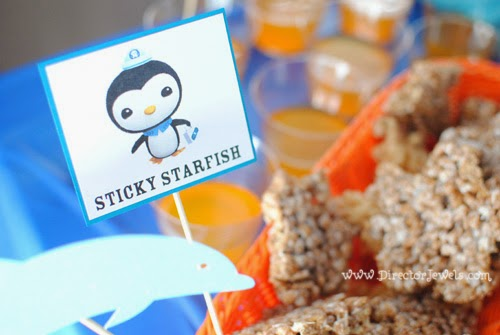 Octonauts Birthday Party Food Ideas | Peso's Sticky Starfish | Under the Sea Party at directorjewels.com