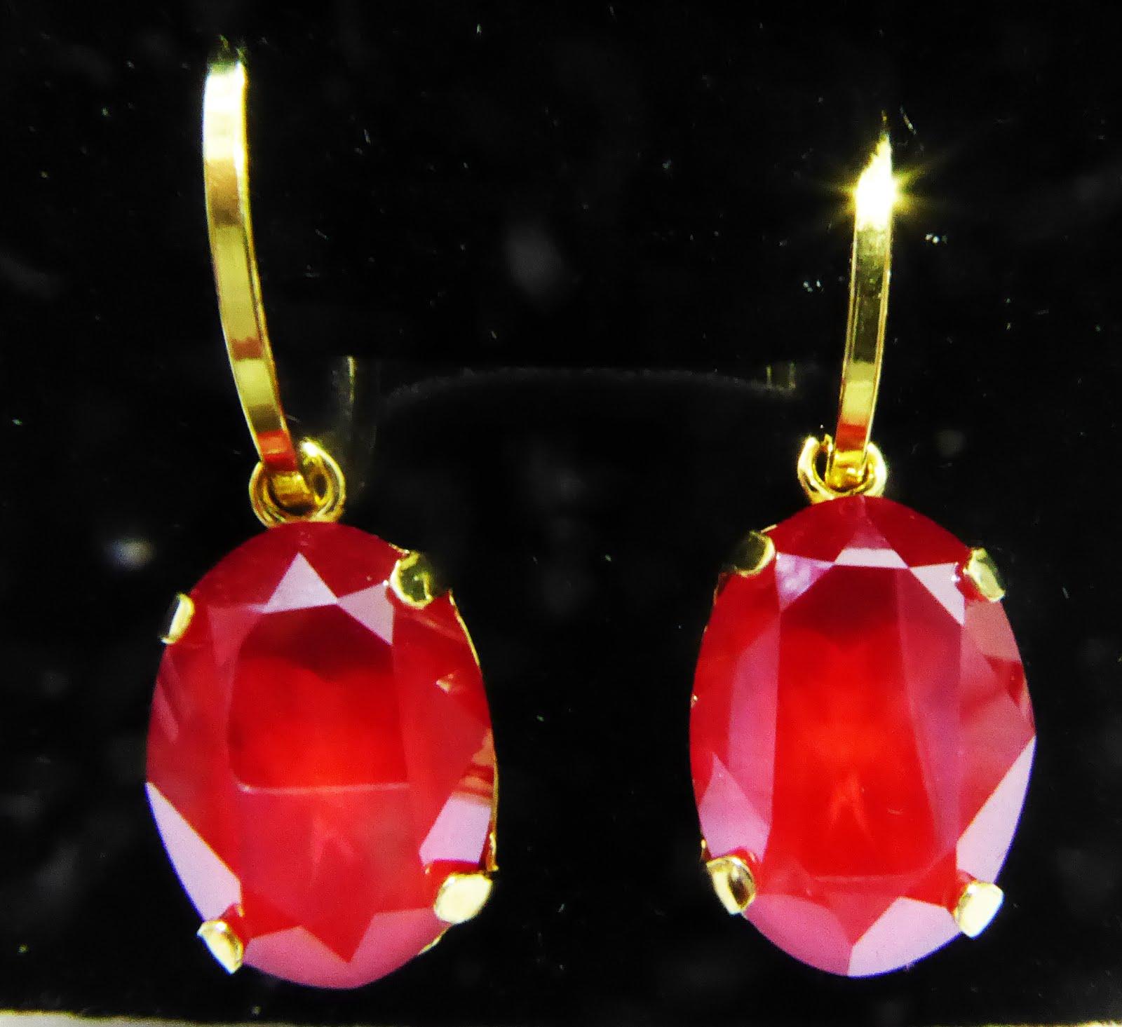 Pendientes oval con cristal Swarovsky