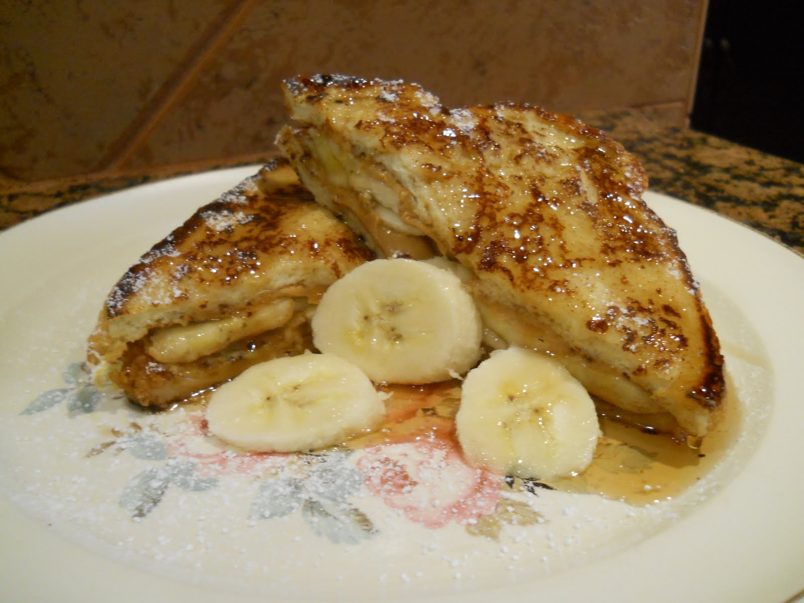 One Woman's Walking Shoes: Peanut Butter Banana French Toast~
