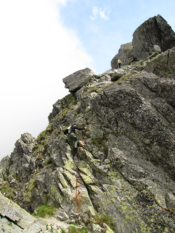Wspinaczka na wierzchołek Kozich Czub.