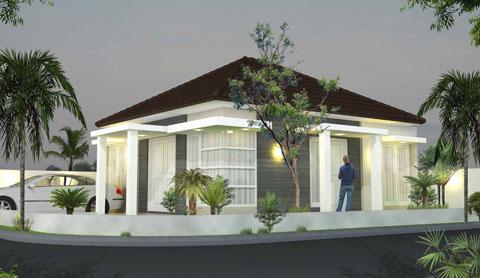 Rumah Minimalis Atap Limas & Rumah Minimalis Atap Limas | Bentuk Rumah Minimalis