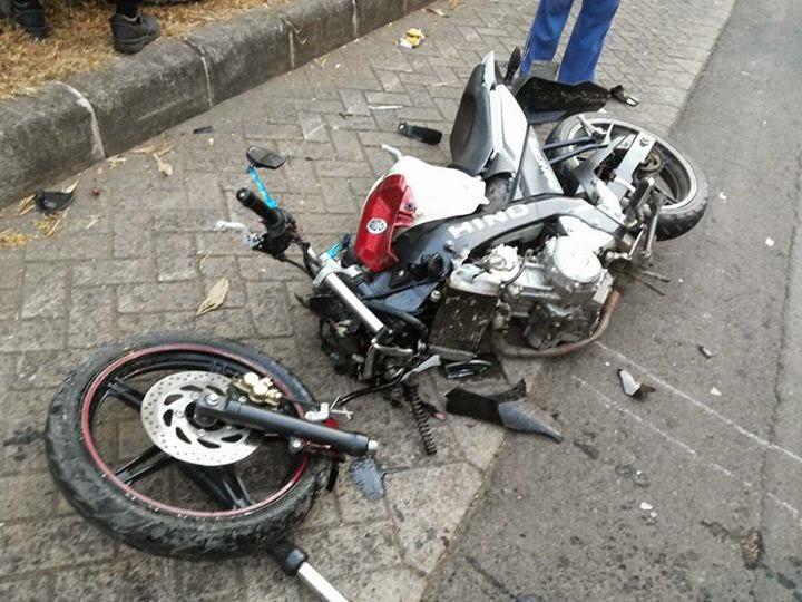 [Flash News] Kecelakaan di BIC Purwakarta, New Vixion Adu Banteng dengan Mio