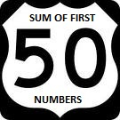 sum of first 50 numbers