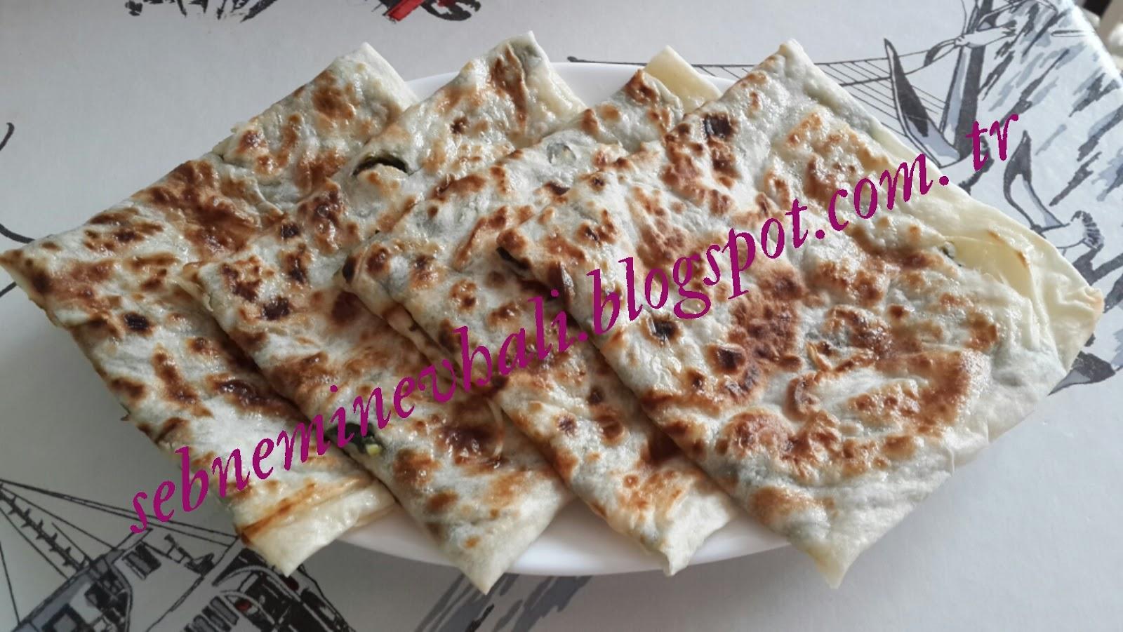 ıspanaklı peynirli gözleme