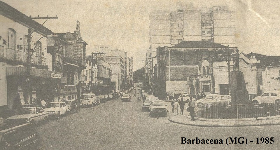 Praça do Rosario de Barbacena MG -1985