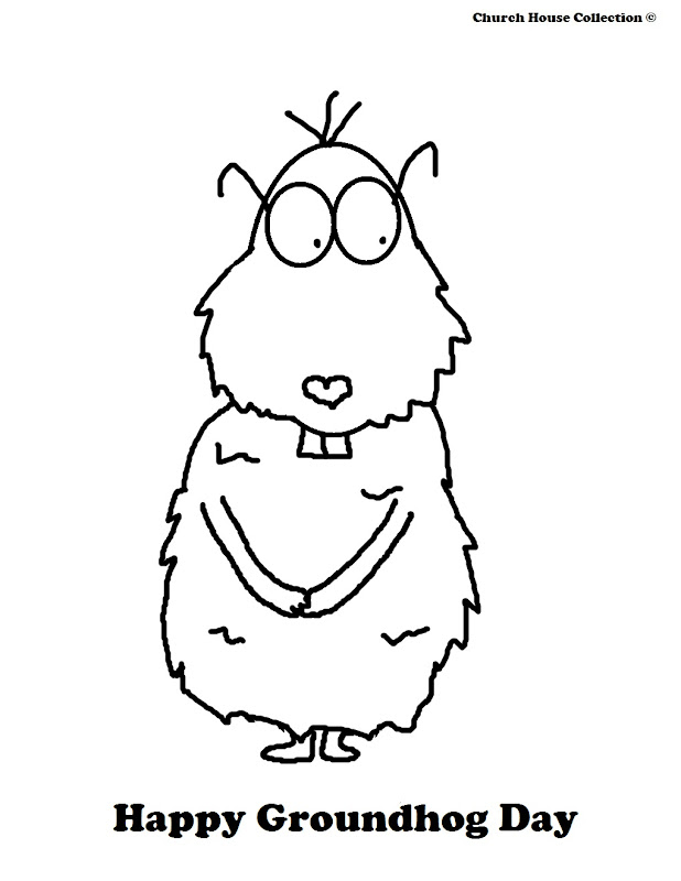 Groundhog Day Coloring Pages For School Teachers title=