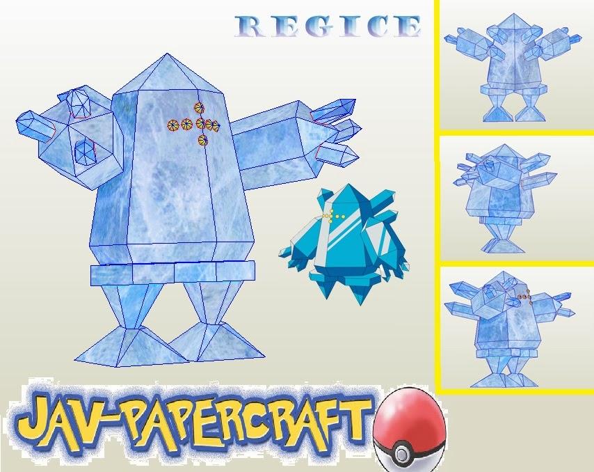 Regice Paper Model