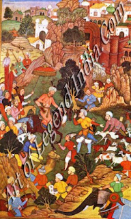 Babur Captures a Flock of Sheep from the Hazaras
