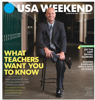 Mr. Sheninger on the cover of USA Weekend