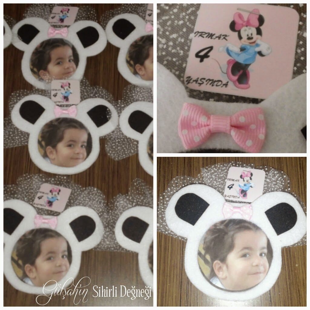 Keçe minnie mouse magnet