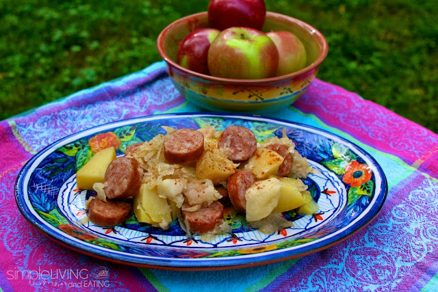 Slow Cooker Kielbasa Sauerkraut & Apples: Simple Living and Eating