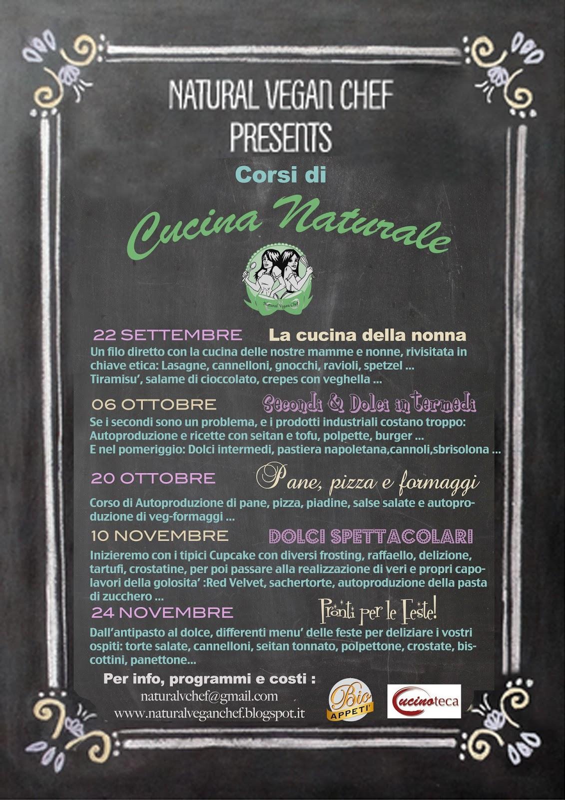 Fabulous life of a Vegan: CORSI DI CUCINA NATURALE 2013