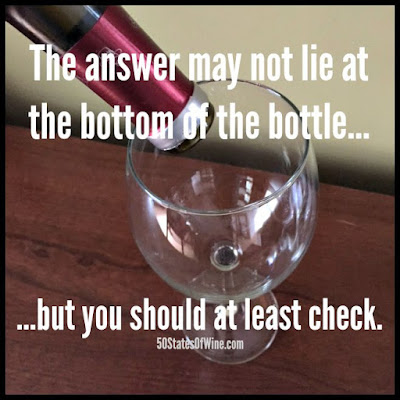 Wine Humor: Bottom of the Bottle