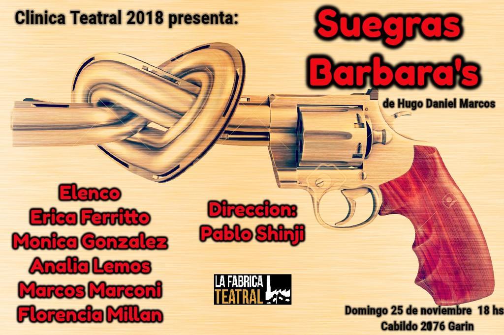 Muestra Clínica teatral 2018. Suegras Barbara´s de Hugo Marcos