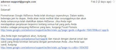 email balasan google adsense
