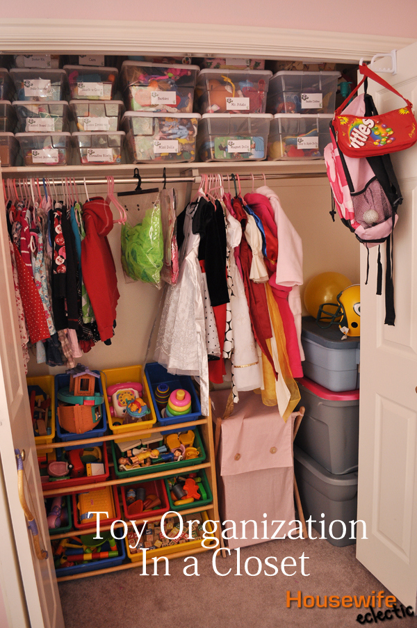 Toy Organization In A Closet/ Kids Closet Organization + Free Label  Printable